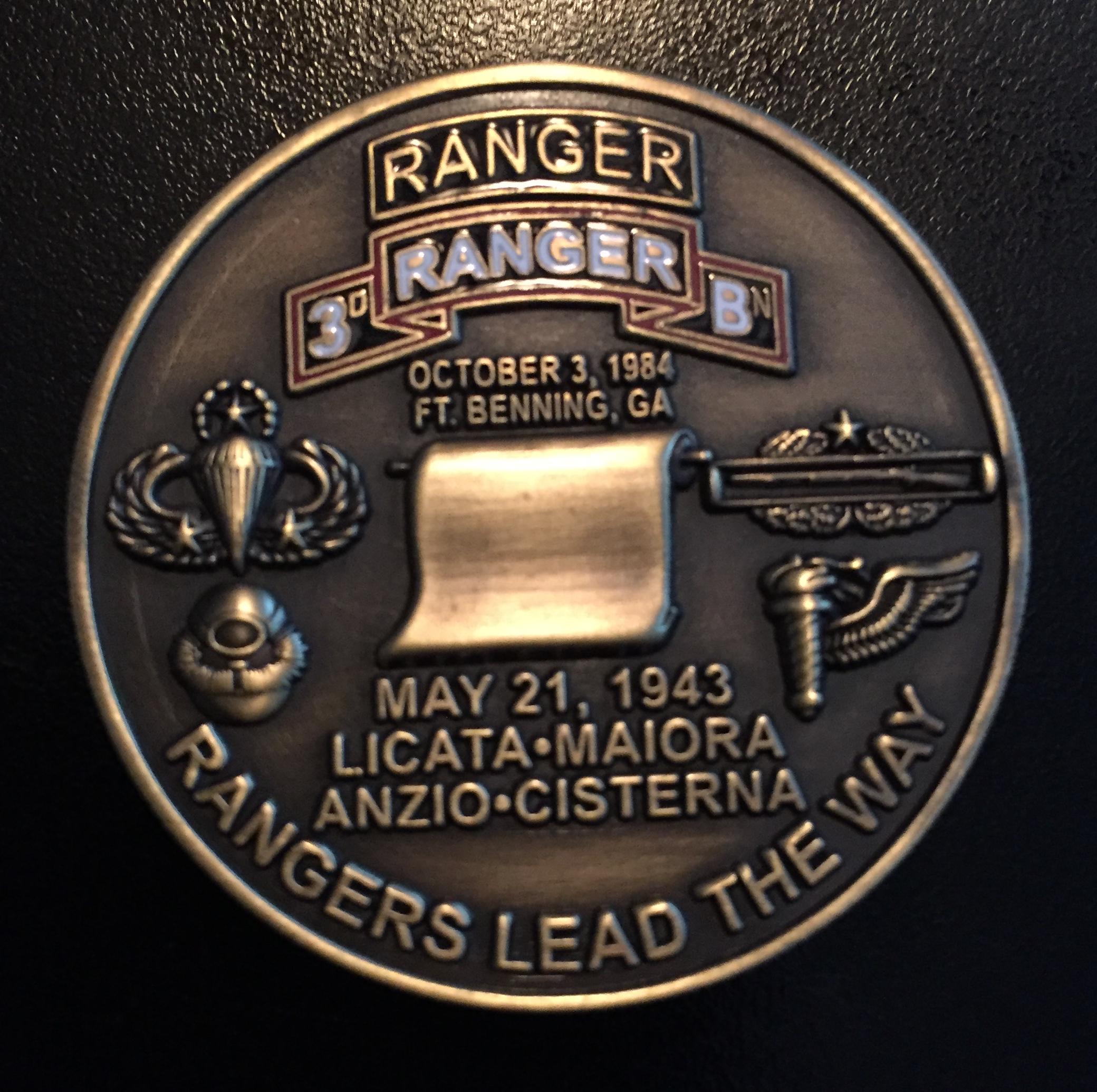 3rd Ranger Bn Challenge Coin