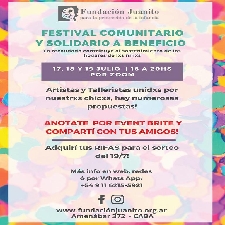 Festival comunitario y solidario a beneficio