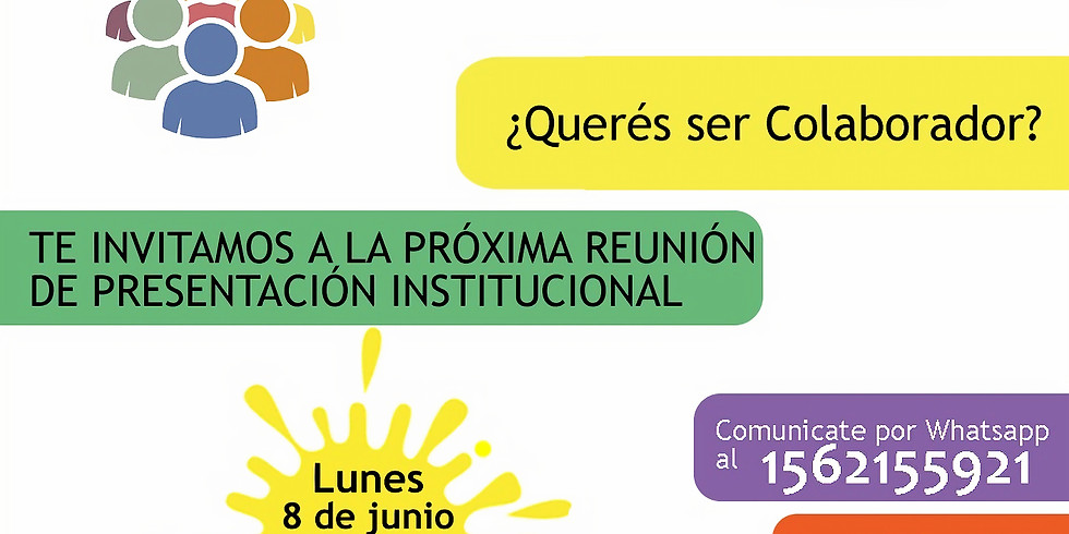 Próxima reunión de presentación institucional