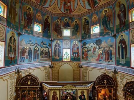 Литургия в храме Ильи Муромца села  Большое - Саврасово.