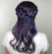 Vivid color purple braid