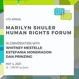 City Club of Boise 4th Annual Marilyn Shuler Human Rights Forum