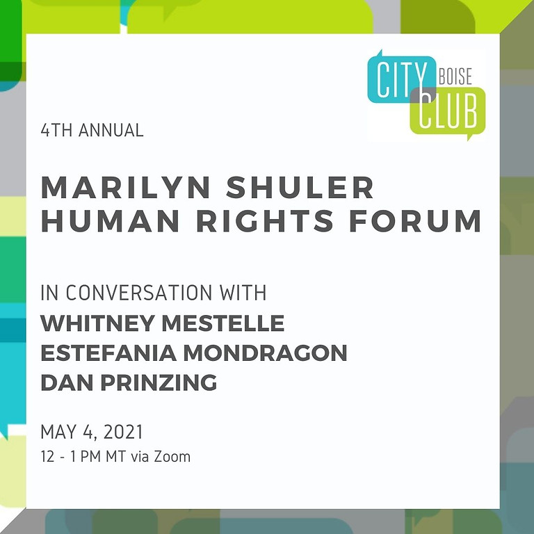 City Club of Boise 4th Annual Marilyn Shuler Human Rights Forum