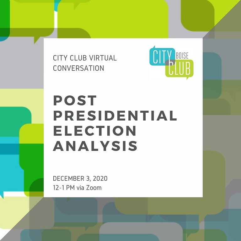Virtual Conversation: Post Presidential Election Analysis