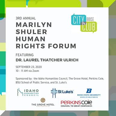 City Club of Boise 3rd Annual Marilyn Shuler Human Rights Forum