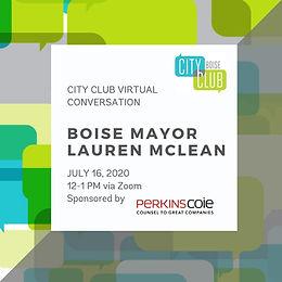 City Club Virtual Conversation: Mayor McLean