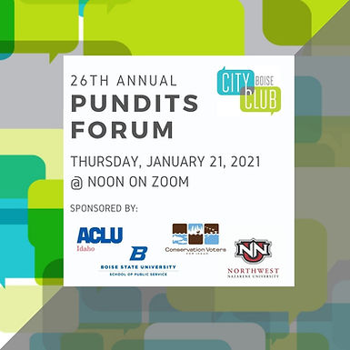 City Club of Boise: 26th Annual Pundits Forum