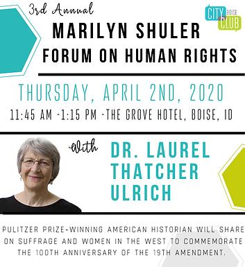 Forum: Third Annual: Marilyn Shuler Forum on Human Rights