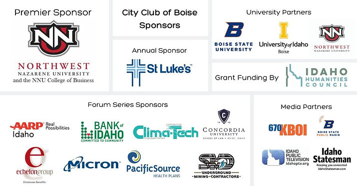 City Club of Boise Sponsor Block June 20