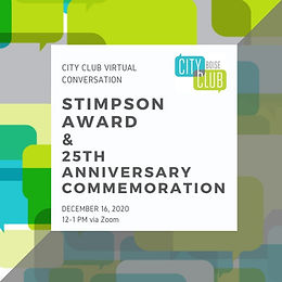City Club of Boise: Stimpson Award for Civic Engagement & 25th Anniversary Commemoration