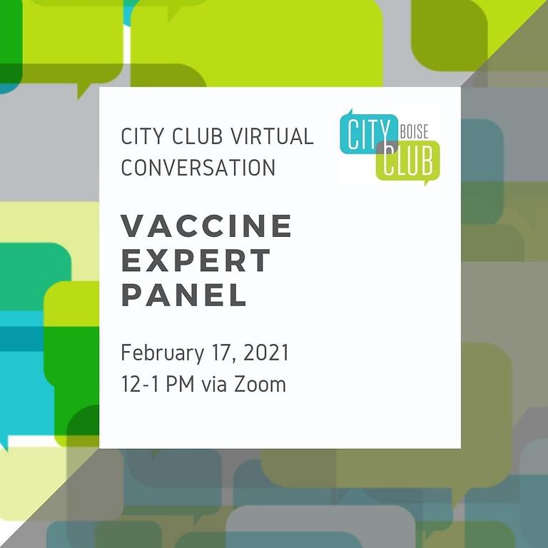 City Club of Boise Virtual Conversation: Vaccine Expert Panel
