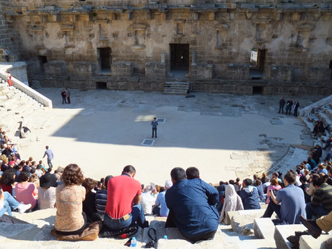 Teaching in Roman Amphitheatre