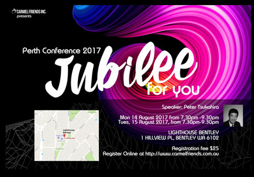Jubilee for you Conference - Perth