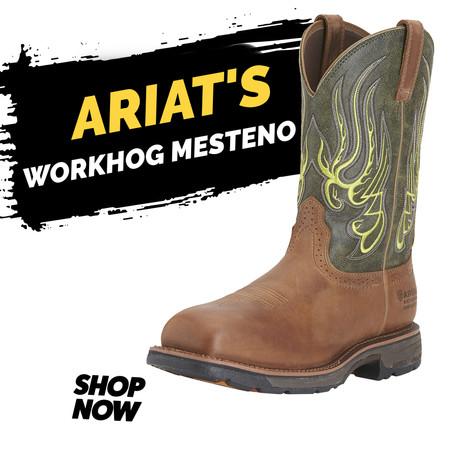 "Ariat 11"" WorkHog Mesteno Wide Square Toe CT WP"