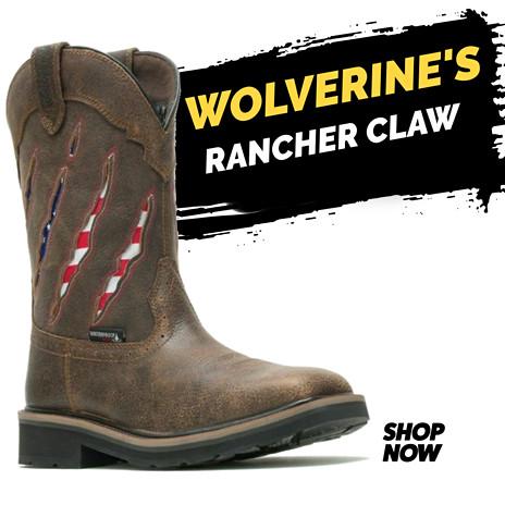 Wolverine Men's Rancher Claw Wellington WP ST