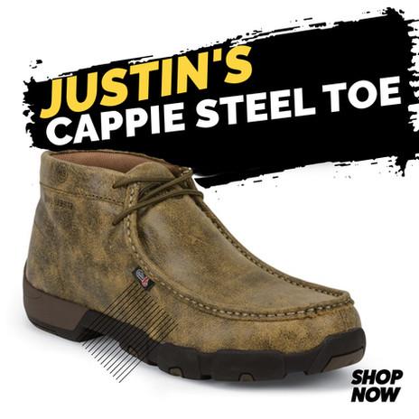 Justin Work Men's Cappie Steel Toe