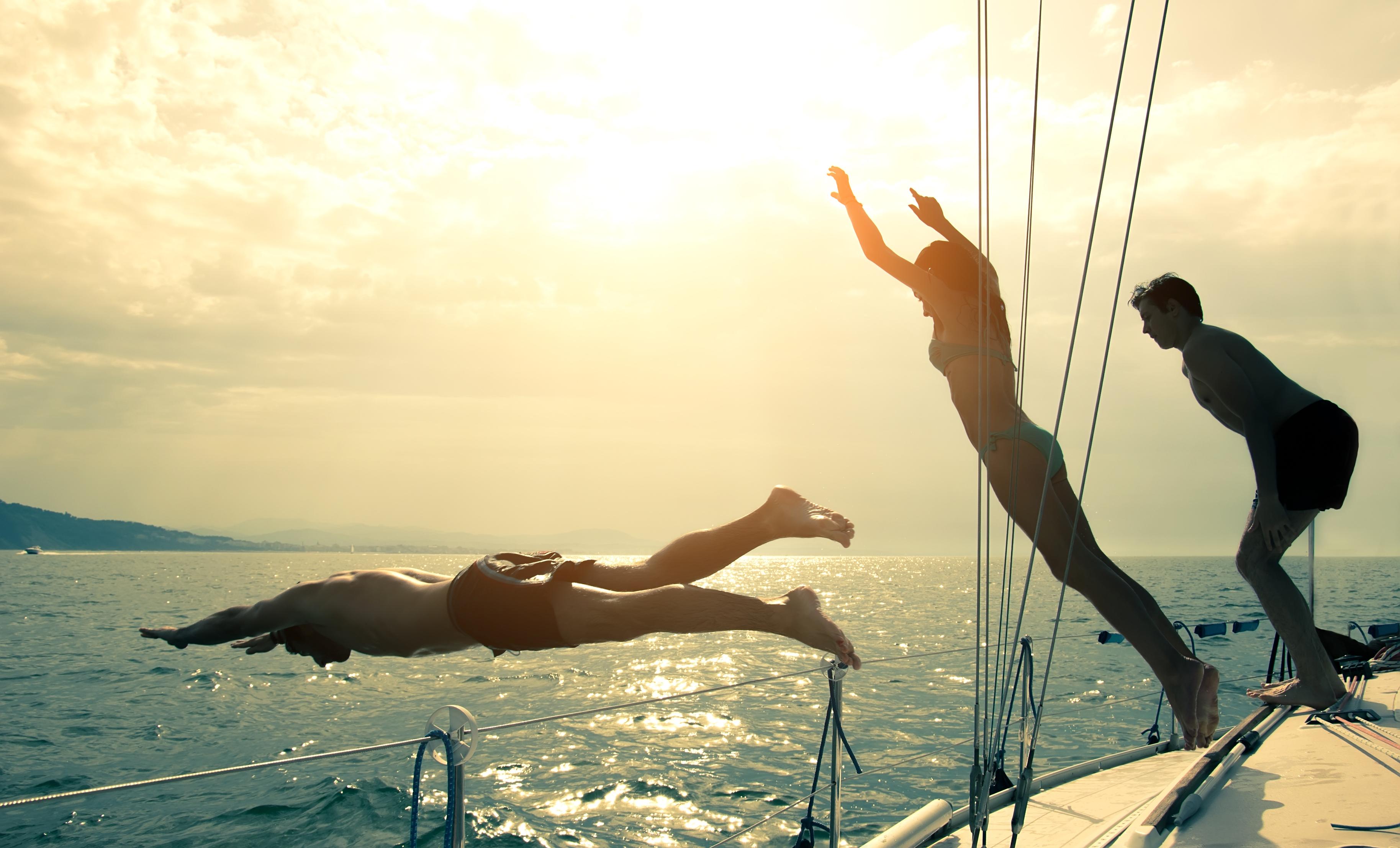 schwimmen und segeln
