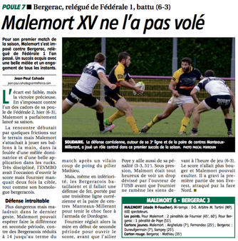 La Montagne - Malemort / Bergerac