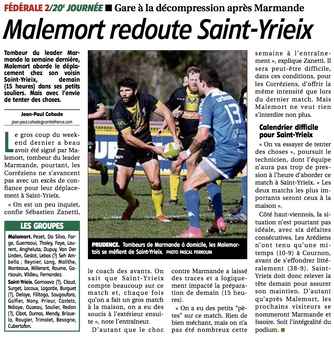 La Montagne - St Yrieix / Malemort