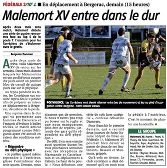La Montagne - Bergerac / Malemort