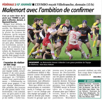 La Montagne - Malemort / Villefranche