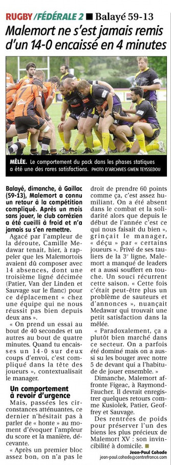 La Montagne - Gaillac / Malemort