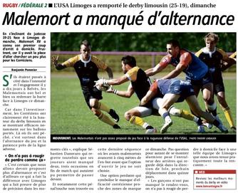 La Montagne - Malemort / Limoges