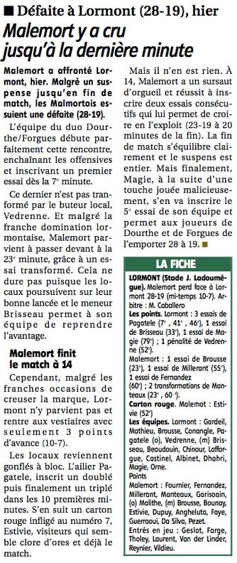 La Montagne - Lormont / Malemort