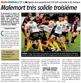 La Montagne - St Junien / Malemort