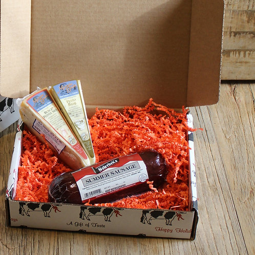 WI Meat & Cheese Gift Box