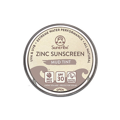 ALL NATURAL ZINC SUNSCREEN FACE & SPORT - Mud tint