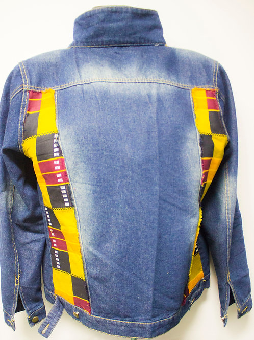 Zuri blue & Yellow stripe denim