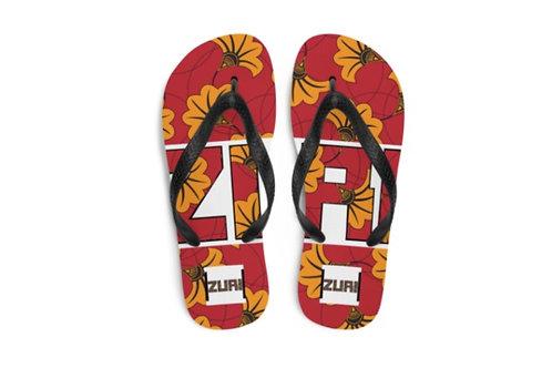 Zuri Designs Flowery Flip-Flop