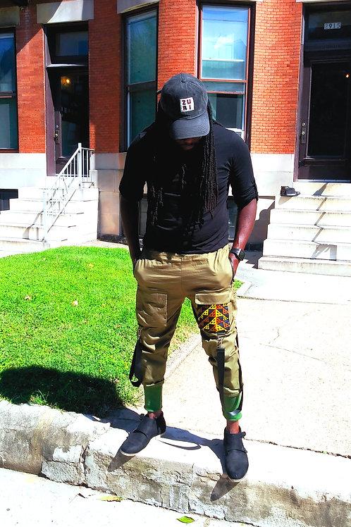 Zuri Designs multi-pockets cargo pants
