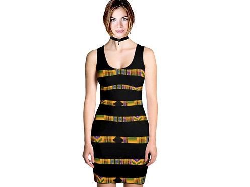 Cross color kente dress