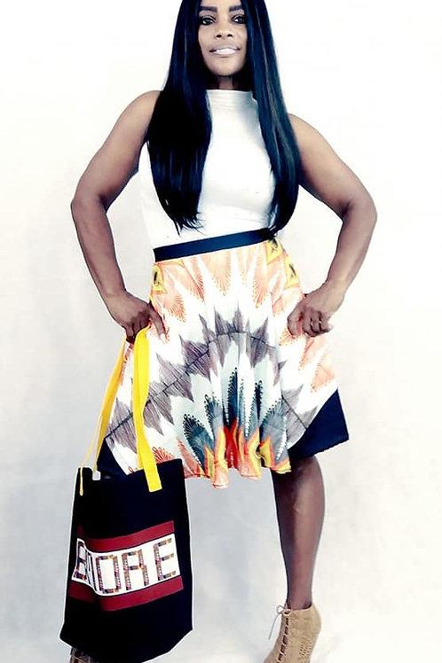 Zuri Zulu print Skirt