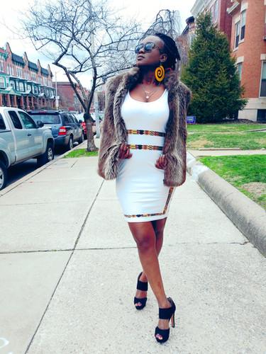 Zuri Designs Kente Stripe dress