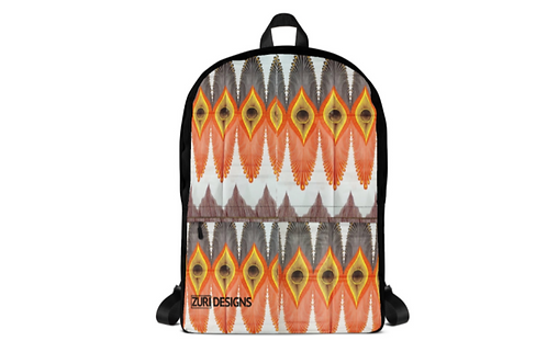 Zuri zulu print backpack