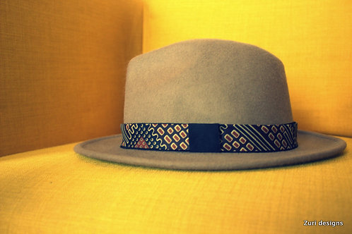 Mens Brown Zuri fedora hat