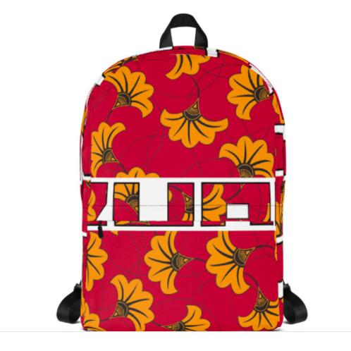 Flower Print Backpack