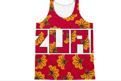 Zuri Designs Flower Print Tank Top