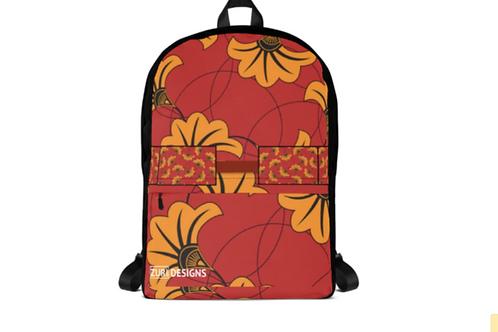 Zuri flowery backpack