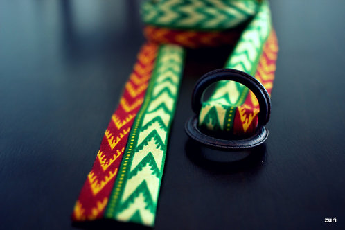 Green Dashiki Belt