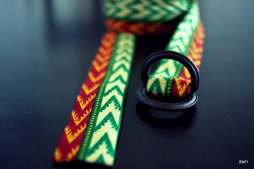 Green Dashiki Belt