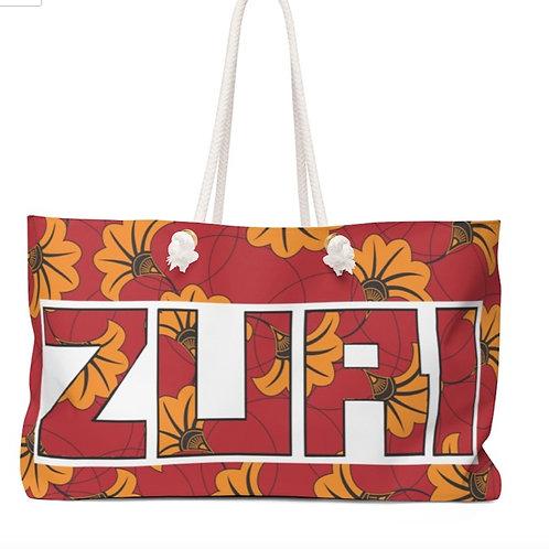 ZURI FLOWERY WEEKENDER BAG