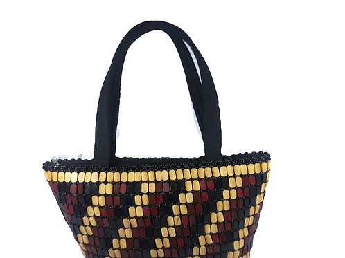 ZURI WOODEN PLAID BAG