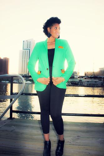 Zuri Green blazer