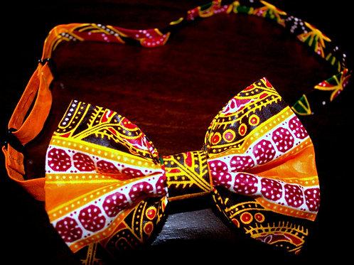 Orange Dashiki Bow