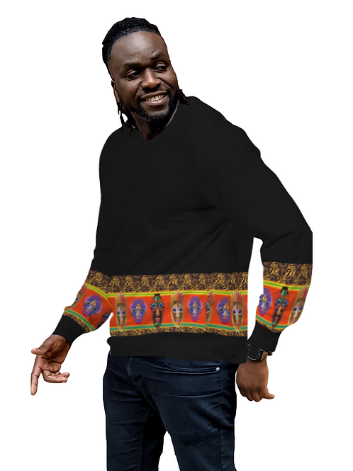 AFRICAN MASK FACE SWEATER