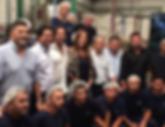 Vidal con Pablo Steinbach, Ignacio Lusteaur, Ruben Salazar y